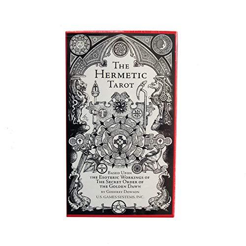 The Hermetic Tarot di Godfrey Dowson, 78 Carte dei Tarocchi con Istruzioni in Inglese