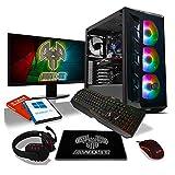 ADMI Gaming RGB PC Package: Intel i3 9100F 4.2GHz Quad Core, GTX 1650 4GB, 8GB DDR4, 1TB HDD, WiFi, Windows 10