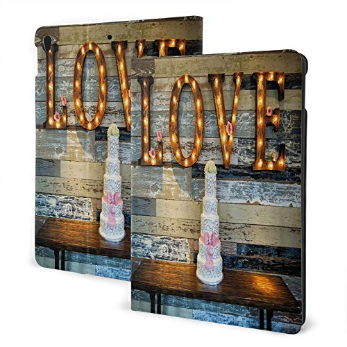 Fashionable Case for Ipad 7th 10.2 Inch / Ipad Air3 & Pro 10.5 Inch - Wedding Decorations Wedding Cake Wtih The Word Love As Si