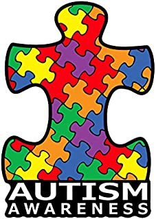 BOLDERGRAPHX 2042 Autism Awareness Puzzle Piece Car Decal Sticker | Premium Quality Vinyl Sticker | 4 inch x 6 inch Decal