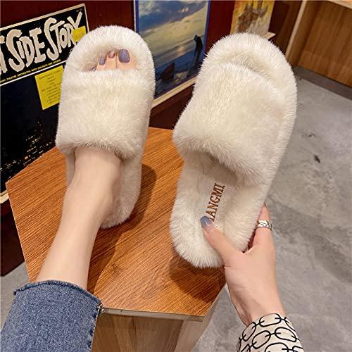 xinghui Chanclas Zapatos de Descarga de Mao algodón de Fondo Grueso-Beige_37