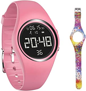 mijiaowatch Non-Bluetooth Pedometer Watch Walking Pedometer Watch Step Calories Counter with Vibration Alarm for Sports Running Kids Men Women [IP68 Swim Waterproof & No APP Need]