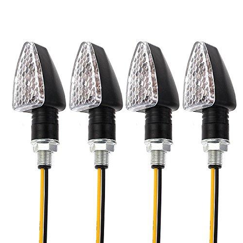 4 indicatori di direzione impermeabili, indicatori di direzione a 15 LED, mini indicatori di direzione per moto