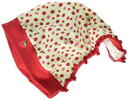maximo Mädchen Kopftuch Mütze, Mehrfarbig (Lindgrün-Rot-Erdbeere 23), (Herstellergröße: 51)