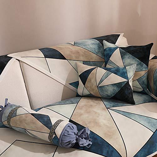 LUNANA Elastische bankovertrek, antislip, modern en eenvoudig, elastische stof, 70 x 70 cm