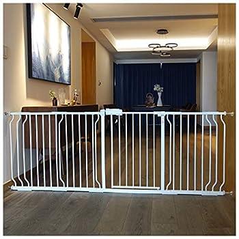 YONGYONG-Guardrail Pet Chien Clôture Enfants Intérieur De Sécurité Isolation Rampe Clôture Chien Porte Bar Escaliers Bouche Teddy Chien Clôture 64-265cm (Color : B, Size : 83-89cm)