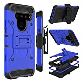 LG V50 ThinQ Case, LG V50 Case, Zenic Heavy Duty Shockproof Hybrid Full-Body Protection Case with Swivel Belt Clip and Kickstand for LG V50 ThinQ 5G (Blue)