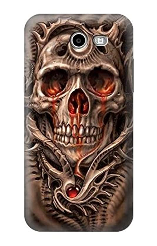 R1675 Skull Blood Tattoo Case Cover For Samsung Galaxy J7 (2017), J7 Perx, J7V, J7 Sky Pro