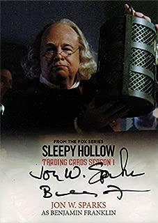 Sleepy Hollow Season 1 Autograph Card JWS Jon W. Sparks as Benjamin Franklin