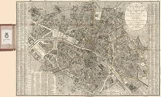 خريطة 1823 خطة من روتير دي لا فيل دي باريس et des ses faubourgs,divisé en 12 arrondts. ou mairies et 48 quartiers,sur lequ...