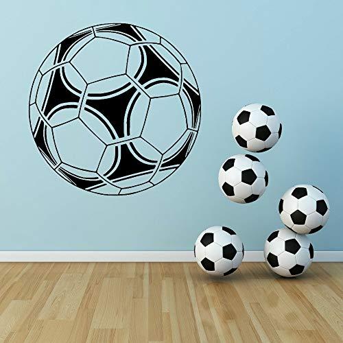 Pegatinas de pared, fútbol, balón de fútbol, calcomanía de pared, habitación para niños, deportiva, adhesivo para pared, dormitorio, sala de juegos, vinilo, decoración del hogar, 56x56cm