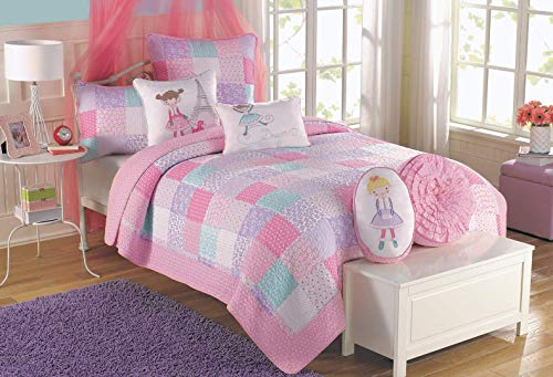 pink and light blue bedding - 7