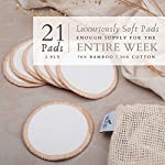 Mooju Reusable Makeup Remover Pads | 21 Luxuriously Soft Washable Cotton Face Pads in 3 Sizes with Laundry Bag, Bamboo… 4