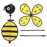 Wanfor Ein große Biene Windmühle Whirligig Wind Spinner Hausgarten Garten Dekor Kinder Kind Spielzeug