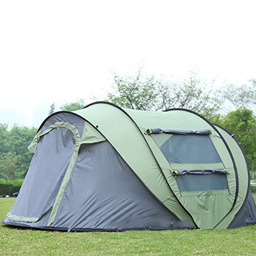 YANKK Pop Up Tent Tienda deCampaña 2 Personas, se Puede Abrir de Inmediato, 2 Puertas, Impermeable, Tienda de Protección Solar para Acampar, Aire Libre, Senderismo