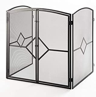 Crannog Superior Heavy Quality Fire Guard/Stove Screen H32 Fireplace Screen with Baby Safe Latch