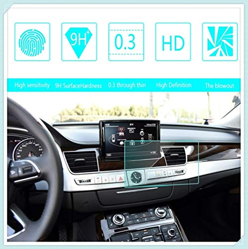 Maiqiken for Audi A3 A6 A7 A8 8 Inch 169×100mm Navigation Screen Protector Touch Screen Display Film 9H Hardness Anti Glare Anti Scratch GPS Screen Protector Foils