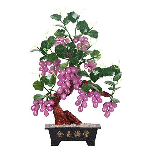 Planta Artificial para bonsái Fallo de la planta decoración artificial Bonsai Uvape Árbol de la casa de la casa de interior para la decoración de la oficina de la oficina Muestra de escritorio Planta