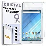 REY - Protector de Pantalla para Acer ICONIA One 8 B1-850, Cristal Vidrio Templado Premium Táblet