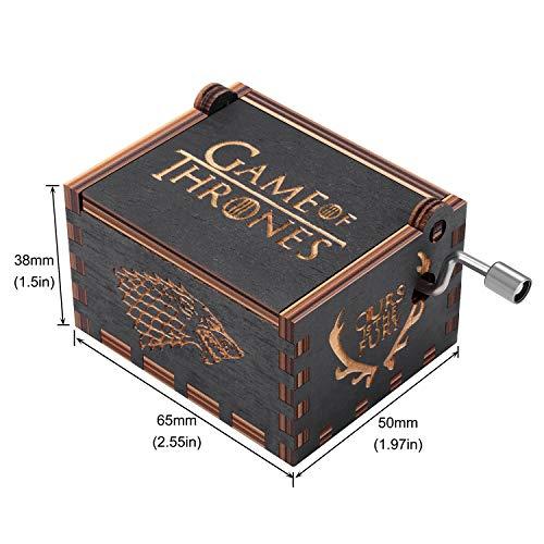HLZK Gioco di troni Music Box in Legno, Antico Intagliato a Mano in Legno Scatole a manovella Musicale Miglior Regalo per Il Compleanno di Natale