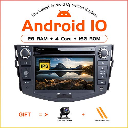 ZLTOOPAI Android 10.0 Autoradio 7 Zoll Multi-Touchscreen Auto Stereo GPS Navigation Auto Media Player Doppel Din Head Unit für Toyota RAV4 2006-2012 SupportFull RCA Ausgang