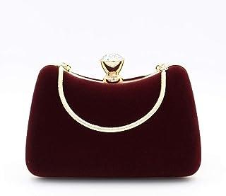 ETH Party Velvet Evening Chain Bag Clutch Bag European Style Banquet Dinner Shoulder Bag 18.5CM * 7CM * 12CM Hand Bag