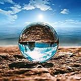 Ba30DEllylelly Bola de cristal transparente Artesanía personalizada Sala de estar personalizada Decoración de oficina Bola de luz coloreada
