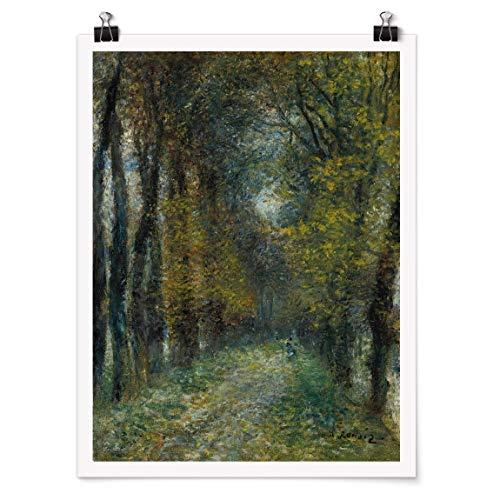 Bilderwelten Poster Wanddeko Kunstdruck Auguste Renoir - Die Allee Matt 60 x 45cm