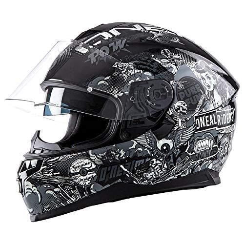 O'NEAL Challenger Fidlock Crank Enduro MX Motorrad Helm schwarz/weiß 2020 Oneal: Größe: M (57-58cm)