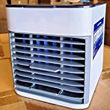 Personal Air Cooler, Portable Air Conditioner Fan with 3 Wind Speeds Air Vent & 1 Refrigeration, Ultra Quite Ice Cooler Fan for Home Office Outdoor (Pack of 2)