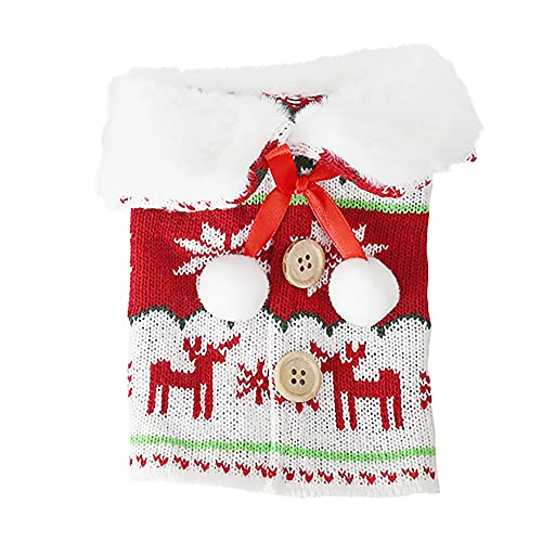 Pteanecay Coperchio della Bottiglia di Vino di Natale Decorazioni di Buon Natale per La Casa Ornamento di Natale Capodanno Natale Regali di Natale, A