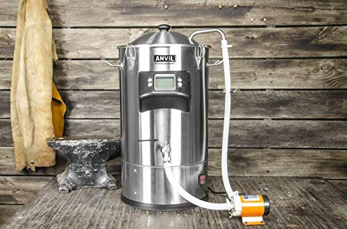 ANVIL FOUNDRY 6.5 Gallon Electric Boiler Kettle For All Grain Brewing T500 Ready Includes Recirculation Pump Kit and Wort Chiller