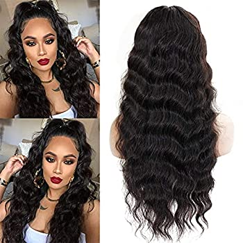 Loose Deep Wave Lace Front Wigs Human Hair 18Inth T Part Lace Front Wigs Human Hair Wigs for Black Women Brazilian Virgin 100% unprocessed Lace Frontal Wig Pre Plucked Natural Color 150% Density