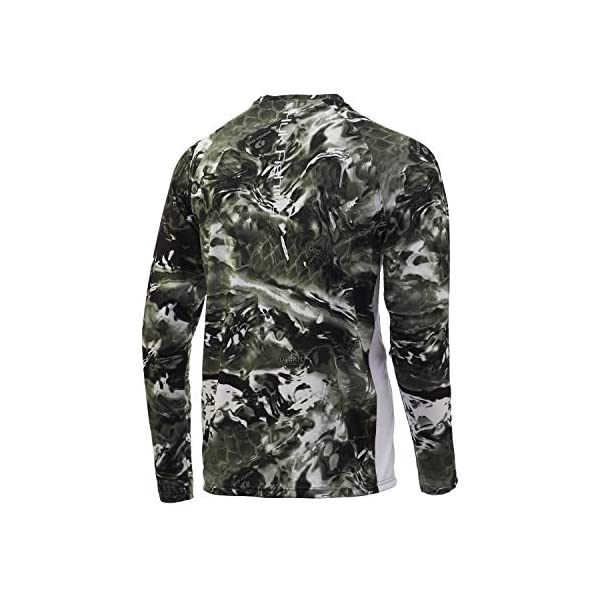HUK Men's Mossy Oak Pursuit Camo Long Sleeve Performance Fishing Shirt with +30 UPF Sun Protection