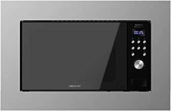 Cecotec Microondas encastrable Digital GrandHeat 2000 Built-In Steel Black. 700W, Integrable, 20l, Grill, 9 funciones preconfiguradas, Quick Start, Diseño Elegante