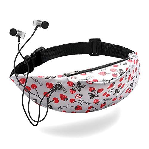 Marsupio Waist Bag Marsupio per Donna Sport Pack Ragazza Cintura in Pelle in Pelle con Cerniera con Musica Marsupio Borsa da Corsa 15