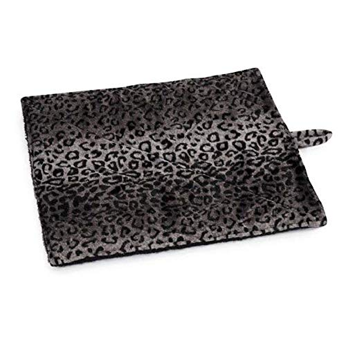 Prairie Horse Supply Quality Thermal Cat Mat and Free Cat Toy (Grey Leopard) (2 Mats) Cozy Self Heating Warming Kitty Kitten Puppy Small Dog Bed, Reversible Washable Pad, No Electricity