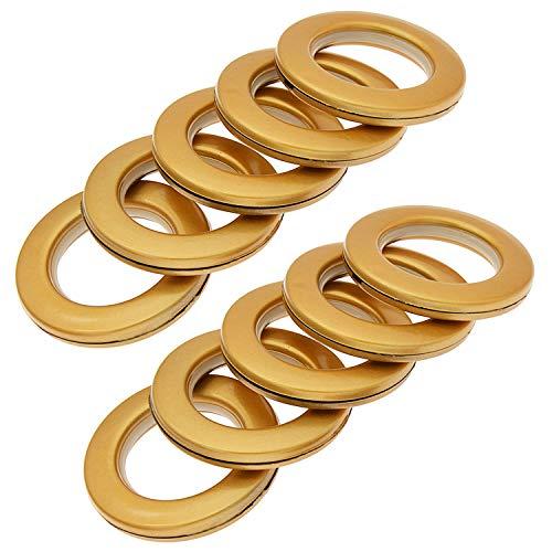 Blackpaistar 32 Stück Vorhangösen, Heimnähen Depot Fast-Set-Metall, Innendurchmesser 40 mm, Ösenringe Nanoscale, geräuscharm gold
