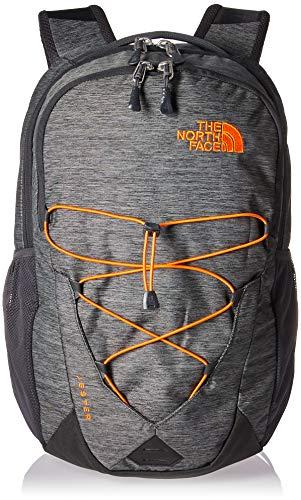 The North Face Jester Pack, TNF Dark Grey Heather/Persian Orange, Taglia Unica
