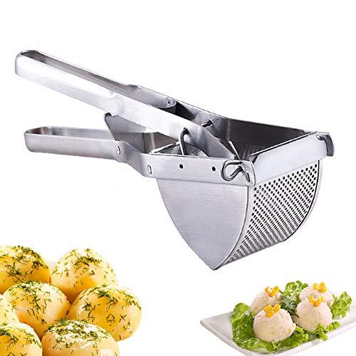 Kartoffelpresse, robust, kommerzielle Kartoffelpresse und Stampfer, Edelstahl, Kartoffelpresse für Babynahrung, gekochte Karotte