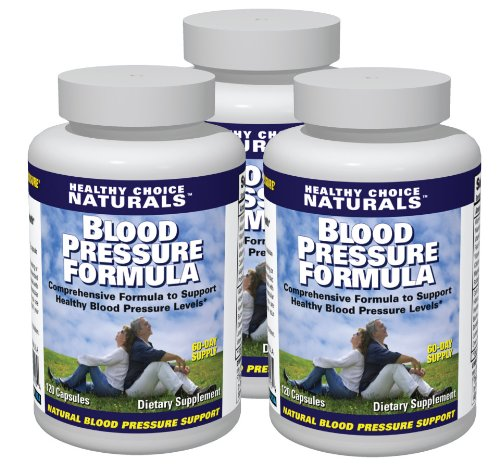 Blood Pressure Support/All Natural Blood Pressure Supplement (3 bottles/360 Capsules/180 Day Supply)