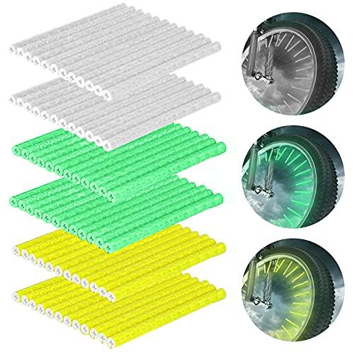 HQCM Reflektoren Fahrrad, 72 Stück Speichenreflektoren 360° Sichtbarkeit Reflektoren- Einfache Montage - Speichen Reflektor Sicheres Fahren bei Nacht