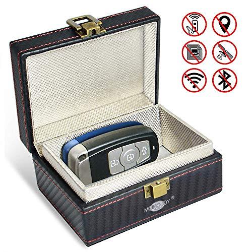 MONOJOY Keyless Go Schutz Box für Autoschlüssel Abschirmung Auto Blocker Autoschlüsselbox Schlüsselgarage Schutzhülle für Auto und Motorrad NFC, RFID Entry Safe Case für Auto Schlüssel
