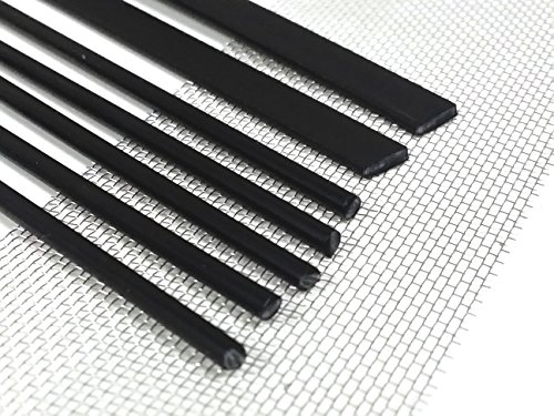 Filo saldatura plastica PP//PE 8x1mm Piatta Nero 25 barra