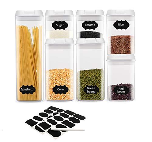 HSR Vorratsdosen Set 7-teilig   Schüttdosen Aufbewahrungsdosen Frischhaltedosen   luftdicht und stapelbar für Lebensmittel   LFGB Zertifiziert
