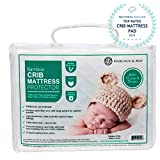 Ultra Soft Crib Mattress Protector Pad by Margaux & May - Waterproof - Noiseless - Dryer...