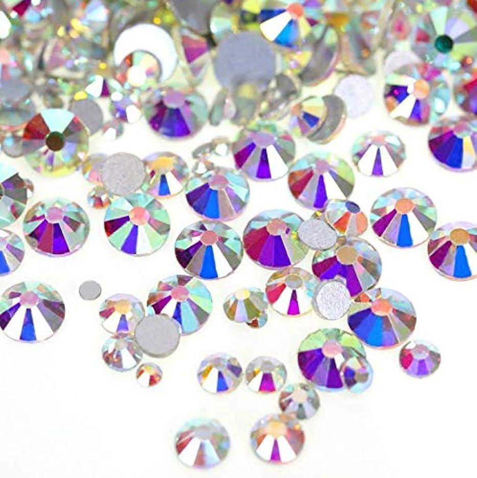 矛盾り白鳥【ラインストーン77】 超高級 ガラス製ラインストーン SS3~SS40 オーロラクリスタル スワロフスキー同等 (8.5mm (SS40) 約140粒)