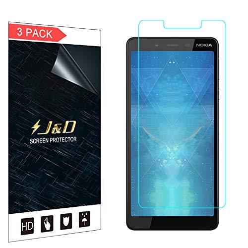 JD - Confezione da 3 pellicole Proteggi Schermo Trasparenti per Nokia 1 Plus, Copertura Non Completa, Alta qualità, per Nokia 1 Plus