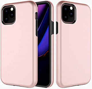 Heavy Duty Case Compatible with Apple iPhone 11 PRO MAX Cover 6.5 inch Protective Case,Dual Layer Hard PC Back with Super Rubber TPE Thin & Protection Case Bumper Cover,Anti Scratches case_Rose Gold