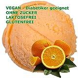 Apfelsine Geschmack Eispulver VEGAN - OHNE ZUCKER - LAKTOSEFREI - GLUTENFREI - FETTARM, auch für Diabetiker Milcheis Softeispulver Speiseeispulver Gino Gelati (Apfelsine, 1 kg)